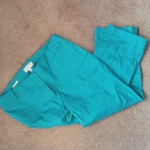 Teal Capri pants